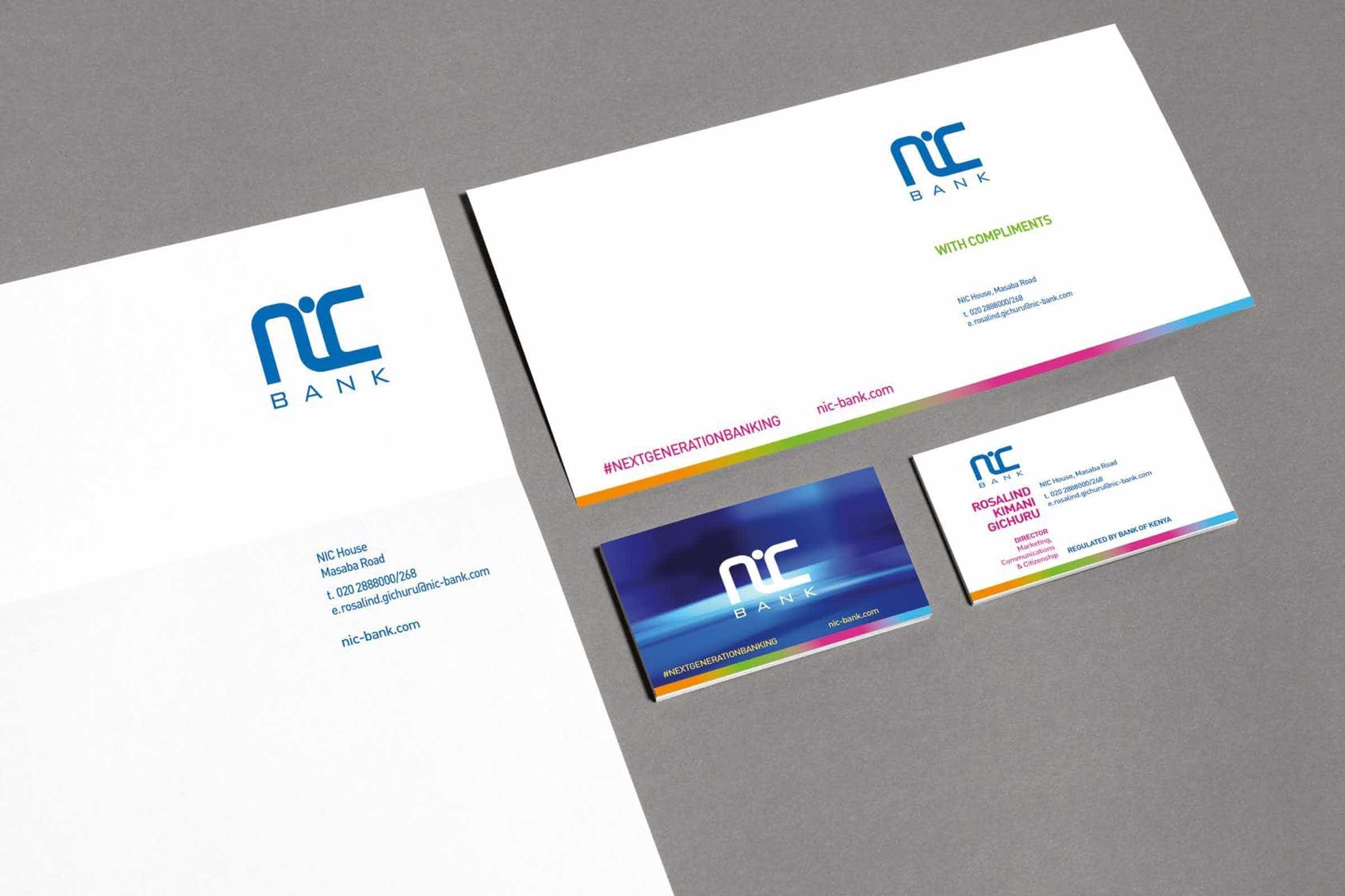 NIC Bank Business Stationery