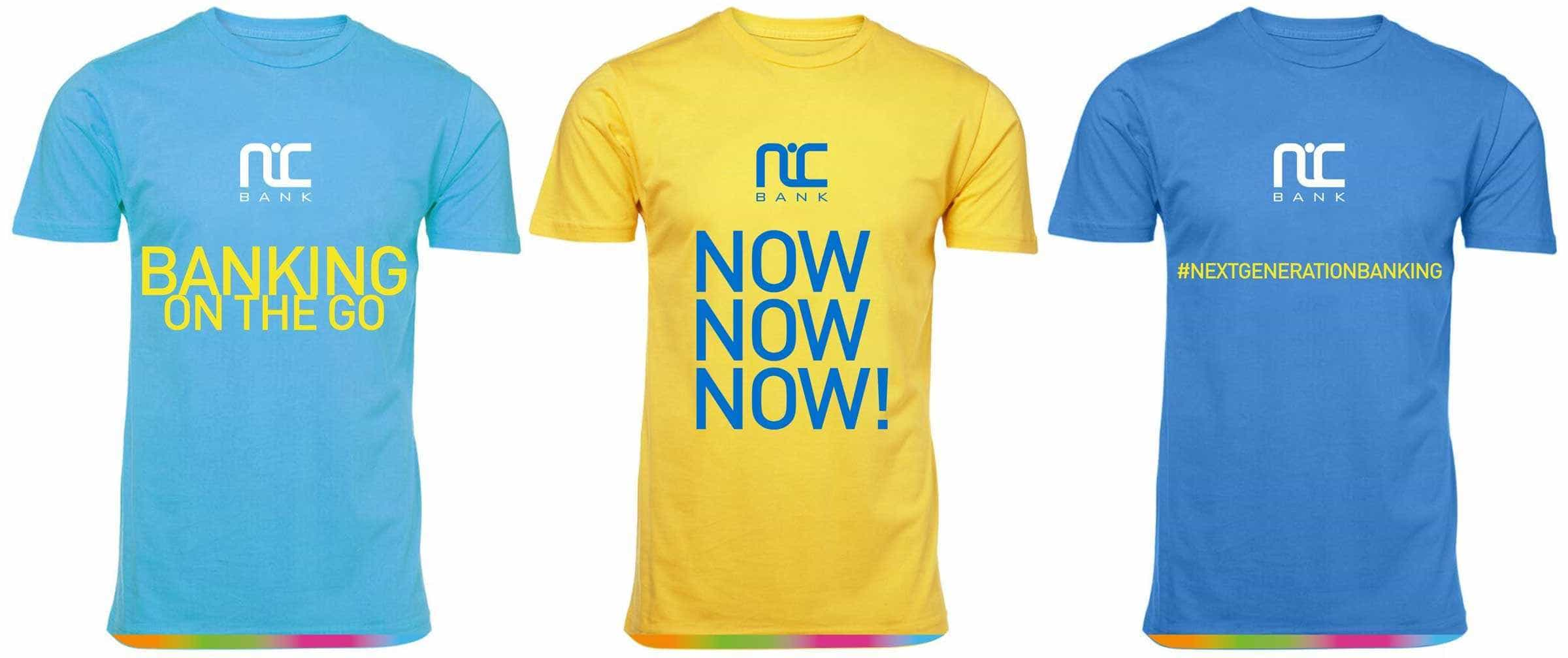 NIC Bank T-Shirt Promotion