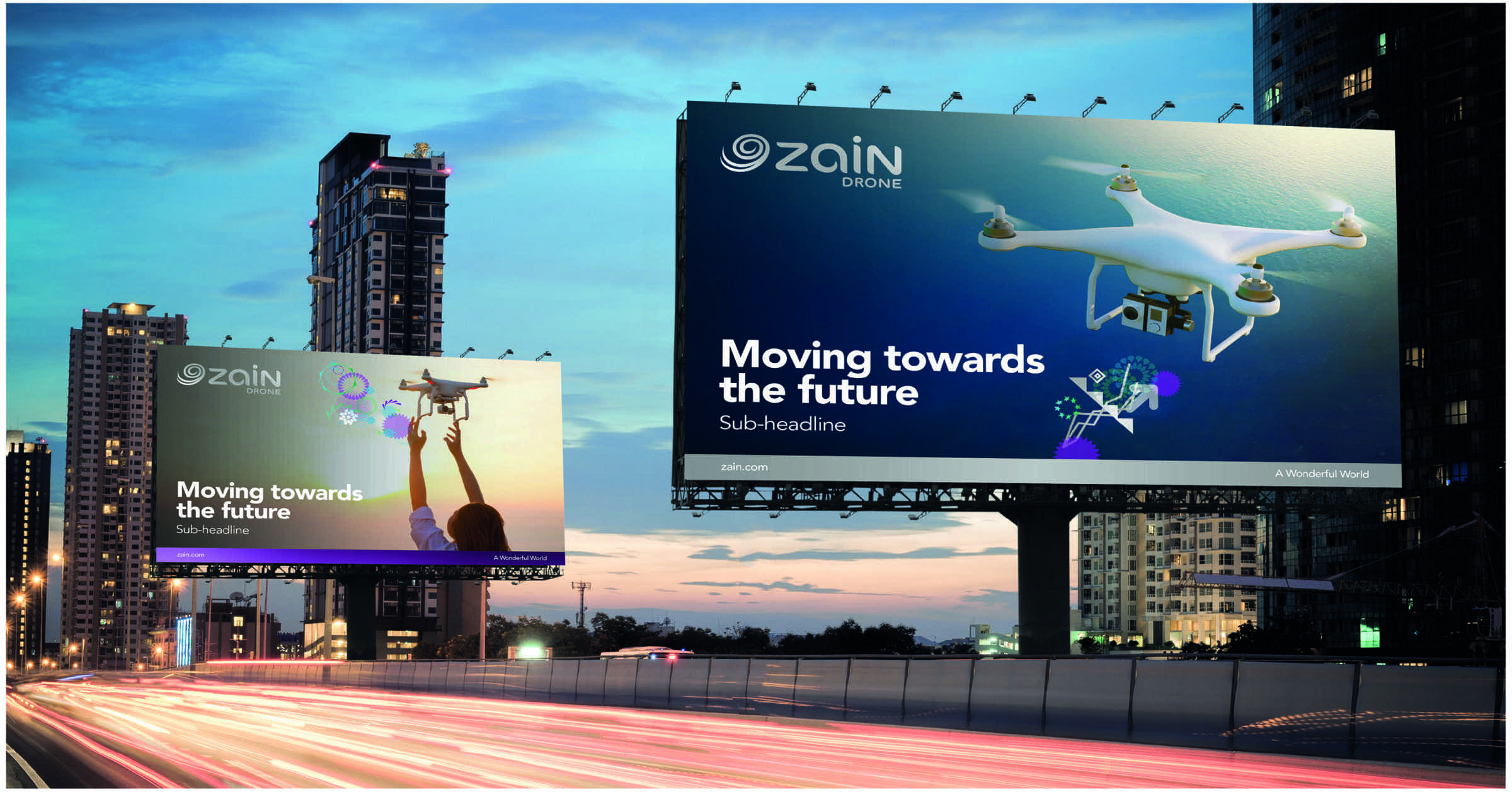 Zain Drones billboards